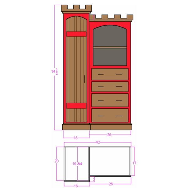 Warwick Castle Dresser Plans