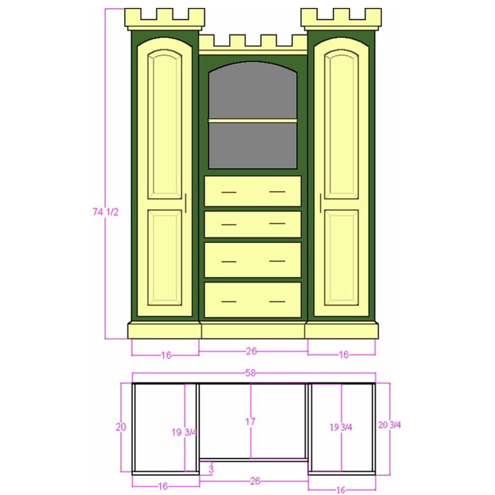 Yorkshire Castle Dresser Plans