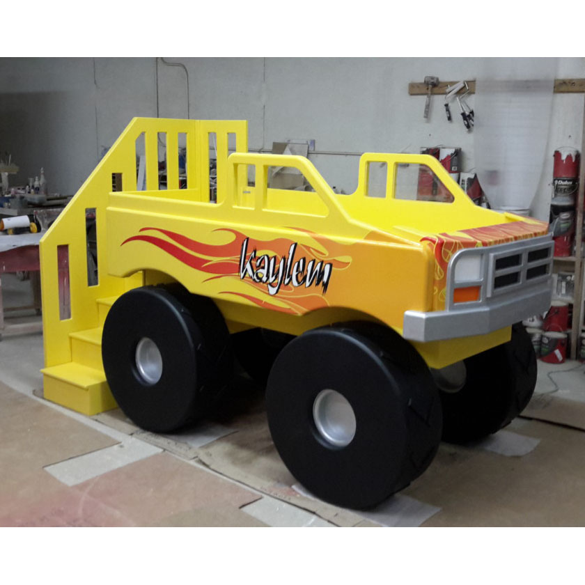 Yellow Monster Truck Bed